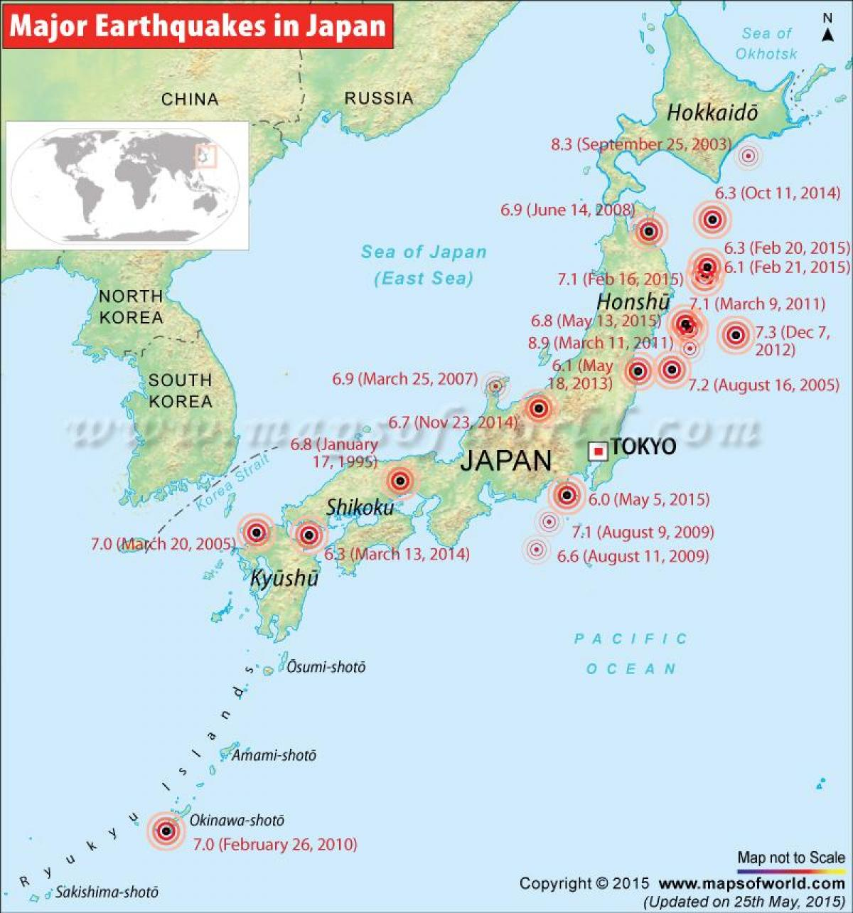 japan karta Japan jordbävning karta   Jordbävningen karta japan och Östra  japan karta