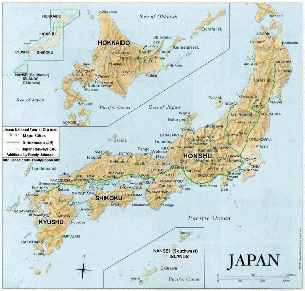 karta japan Karta över japan öar och städer   Japan karta med städer och öar  karta japan
